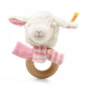 STEIFF LIENA LAMB GRIP TOY WITH RATTLE