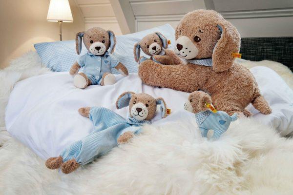 STEIFF GOOD NIGHT DOG - BLUE